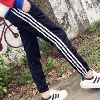 條紋長褲 長褲 運動褲