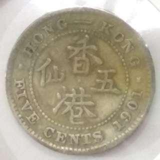 1901年五仙5仙 HOT014