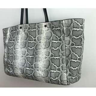 ZARA snakeskin print tote bag