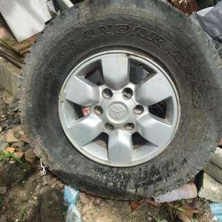 Hilux Spare Rim & Tire lump sum