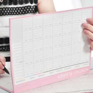 Monthly Organiser Planner Desk Business Schedule To Do List For College And Office 21cm x 28.5cm