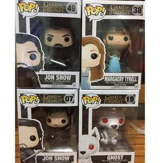 Game Of Thrones Funko pops!