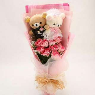Rilakkuma large bear flower bouquet for sale!