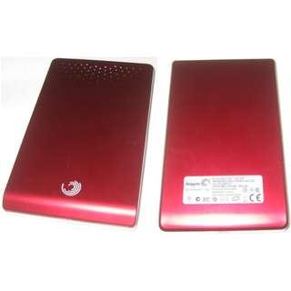 Seagate 320GB external portableharddisk (FreeAgent Go, red)