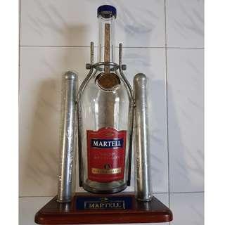 Empty Martell Bottle