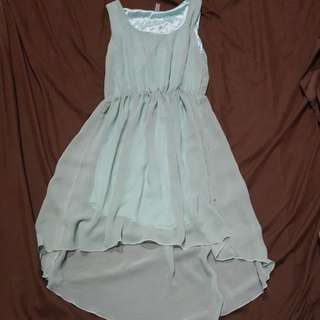 Asymmetrical dress (mint green/teal)