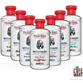 💥SALE💥*FREE MAIL*Thayers, Witch Hazel, Aloe Vera Formula, Alcohol-Free Toner