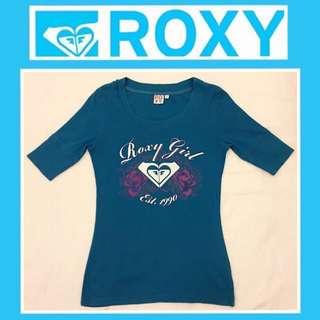 🚺《ROXY》二手 藍綠色 五分袖 T恤