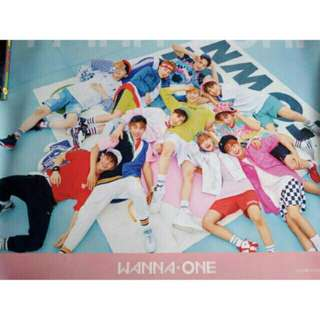 Poster official wanna one to be one pink