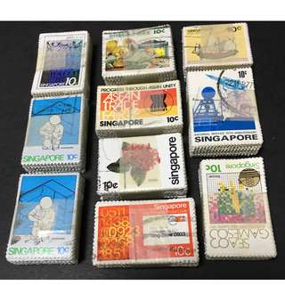 1000 pieces Singapore Used Stamps F