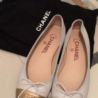 Chanel ballerina classic two-tone👠✨