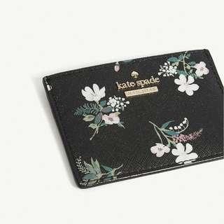 Crazy Sale $560 KATE SPADE NEW YORK Cameron Street floral card holder Valentine's Day Chinese New Year,birthday,Anniversary gift  情人節新年生日週年禮物