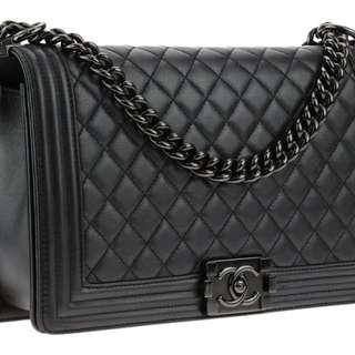 Chanel Boy 2017 年 罕有 限量 絕版 Black 黑色 25cm