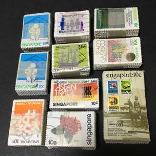1000 pieces Singapore Used Stamps fine