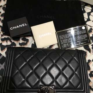 Boy Chanel 黑扣 銀包