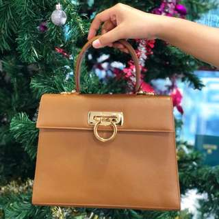 Salvatore Ferragamo Classic  Leather Bag