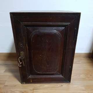 Teak wood vintage cabinet