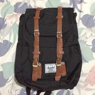 REPRICED! Black Tan Herschel Bagpack
