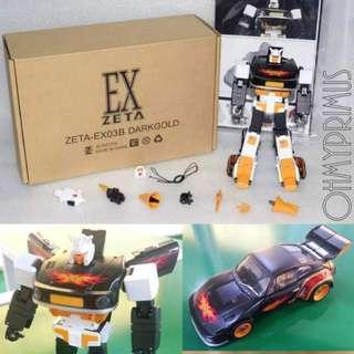 Zeta Toys EX-03B EX03B Darkgold - Transformers Masterpiece MP Stepper