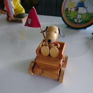 Snoopy Wooden Musical Figurine