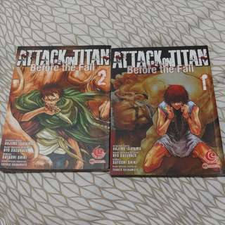 Attack on Titan Before the Fall 1 & 2