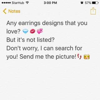 🌸 Source for Any Earrings Designs💎💞