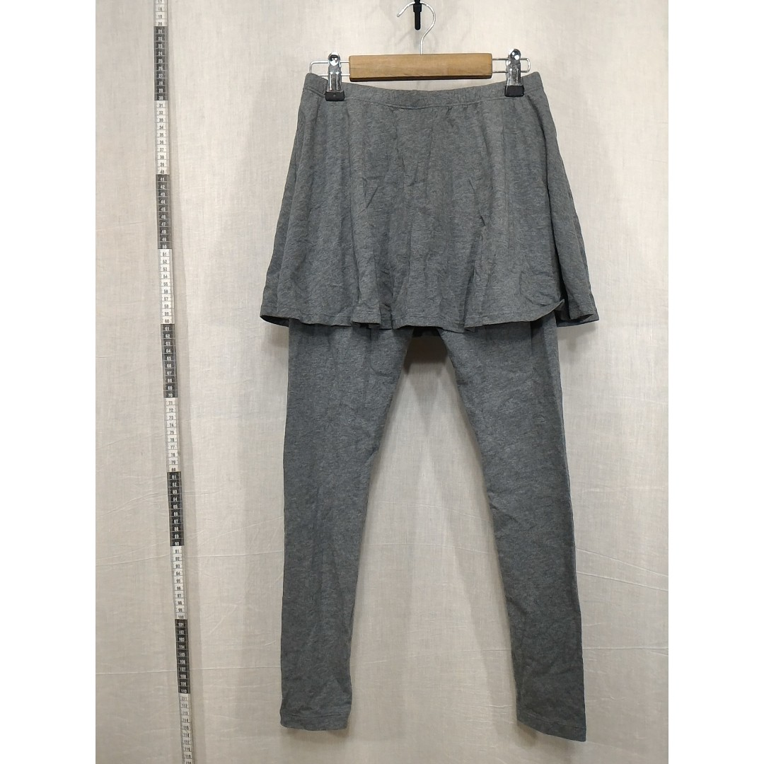 31118128-Lativ iron gray Lycra trousers鐵灰色彈性長褲