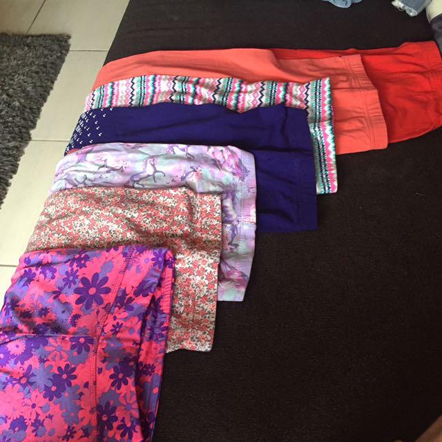 7 pcs girls leggings (6 carters, 1 layers brand)