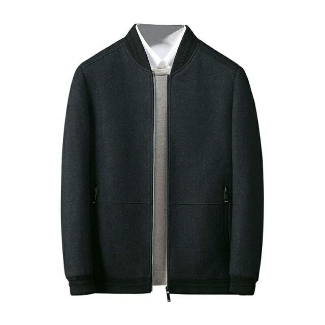 羊毛棒球領夾克