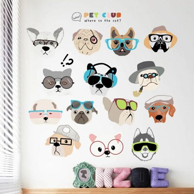 創意寵物可愛牆貼壁貼窗貼
