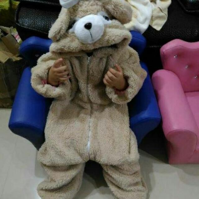 新/熊熊造型厚連身衣(120碼)