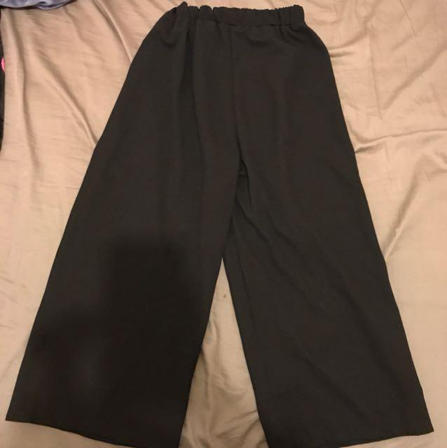 《二手》黑色鬆緊寬褲