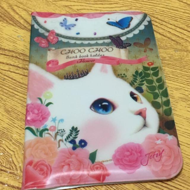韓國可愛貓咪存摺收納夾