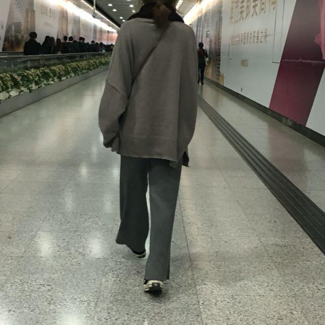 針織灰色褲子