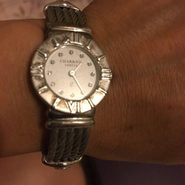 夏利豪原廠真鑽手鍊錶