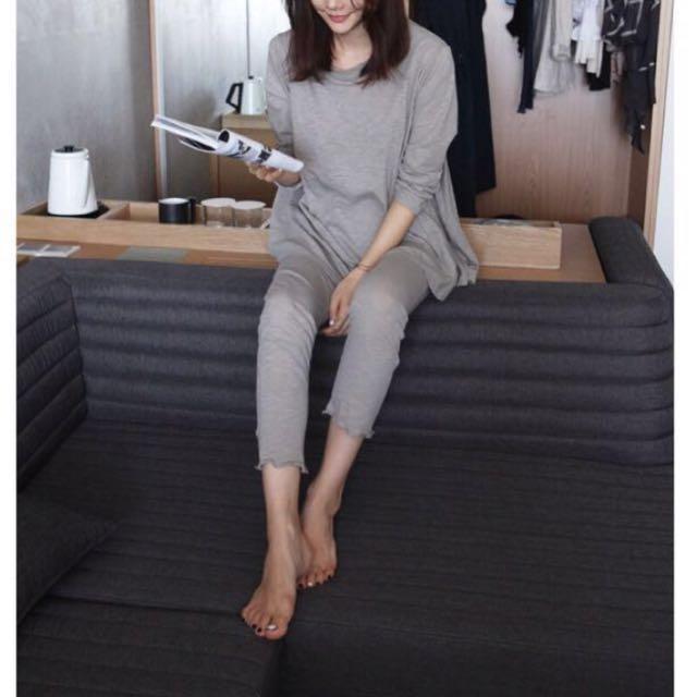 兩色。韓版 哺乳純棉套裝