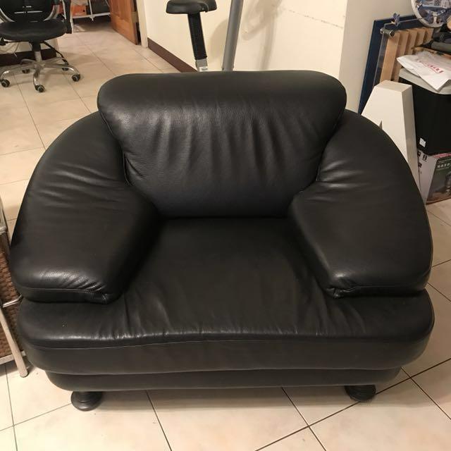 黑色進口皮革沙發兩張/木質藤椅沙發/大理石茶几 方桌 長桌