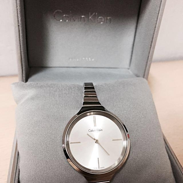 免運! Calvin Klein 手錶 腕錶 CK白面玫瑰金 女