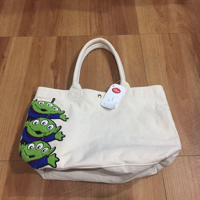 ~現貨不用等~絕版日本正貨 迪士尼Disney手提包 手提袋 帆布包 三眼怪