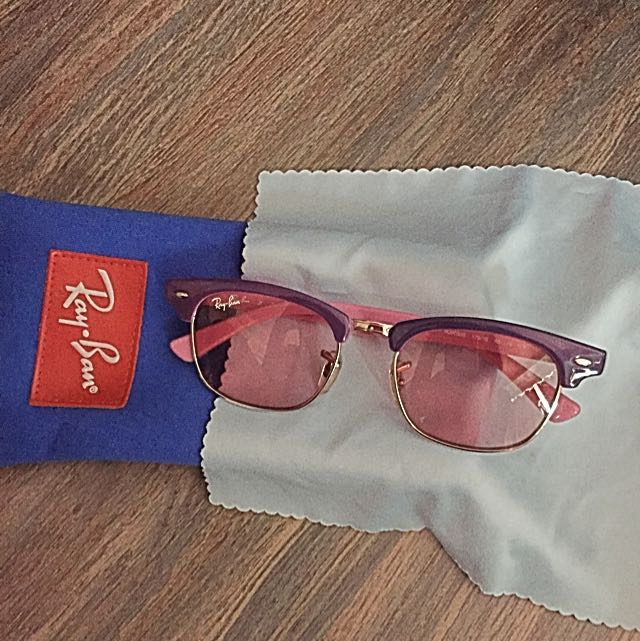 9800559911c ⚡ SALE! Authentic Ray Ban Junior Kids Sunglasses Pink Purple ...