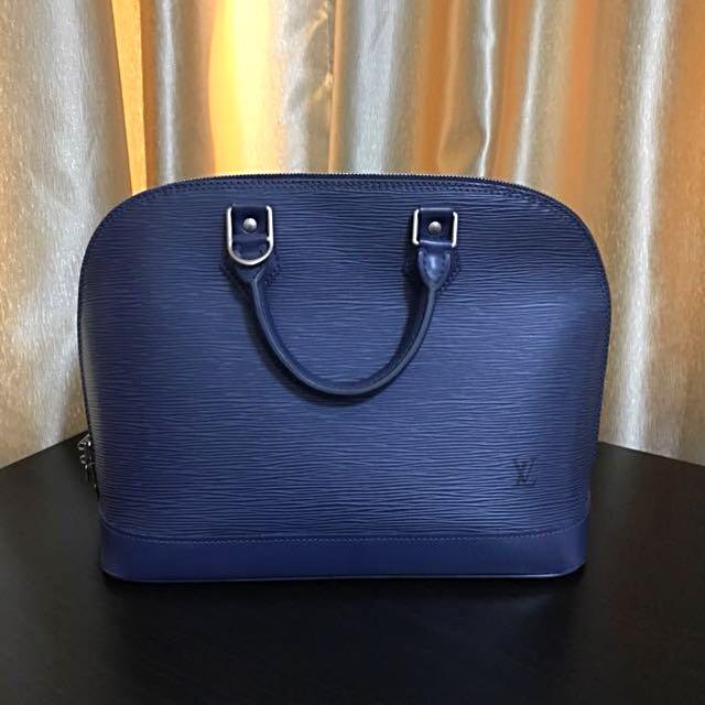 💝 Showcase Only 💝 Louis Vuitton Blue Epi Alma