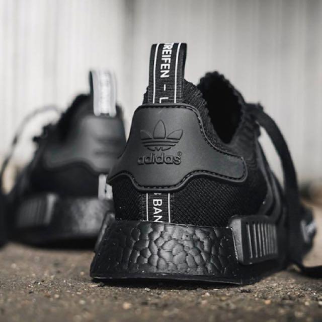 Adidas NMD R1 primeknit Triple negro Japón, hombre 's Fashion, Calzado