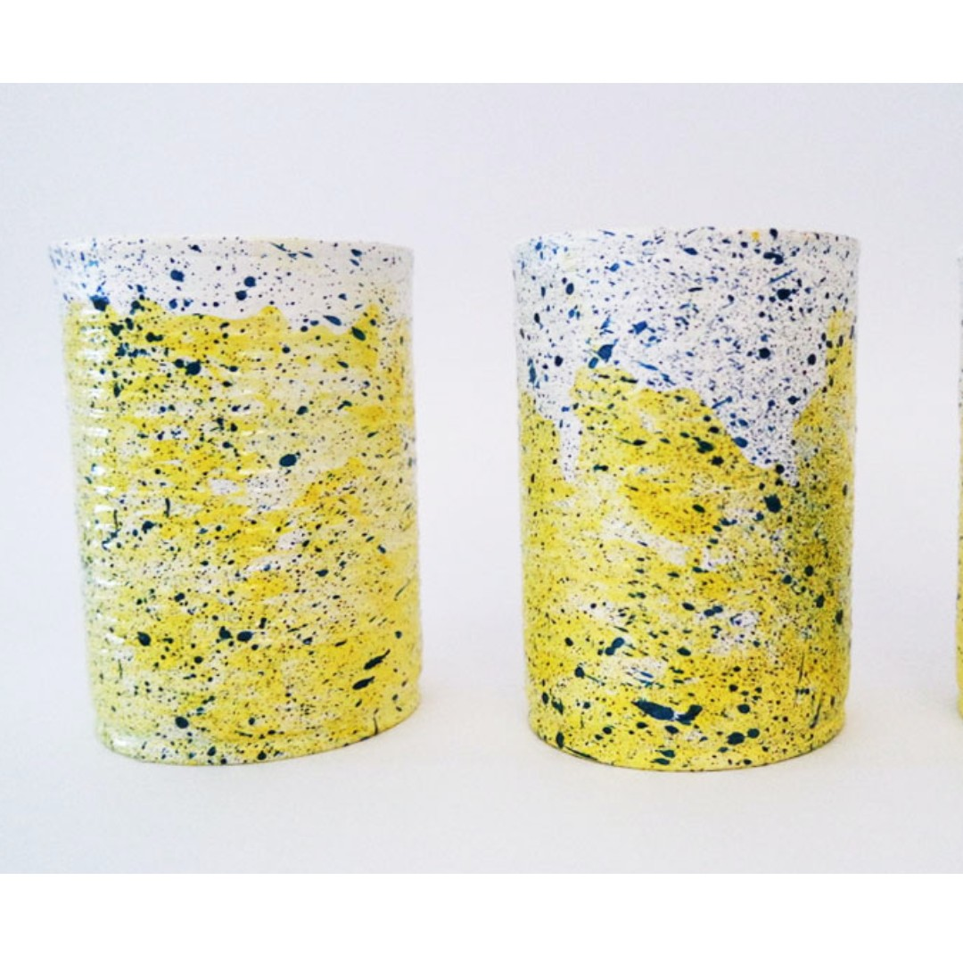 Aluminium Can Set of 3 with Textured Finishing