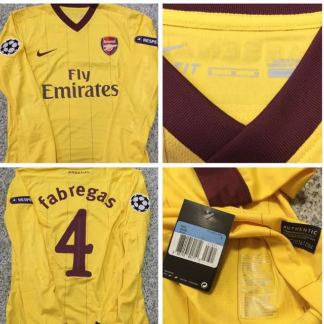 new style 5f5cf 55b0a Authentic Arsenal Player Issue Champions League Jersey Fabregas