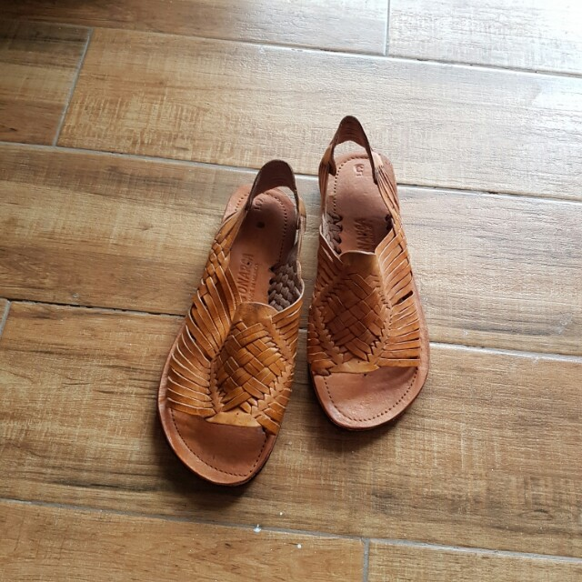 Authentic Genuine Leather Huarache from Mexico Size 7.5 womens