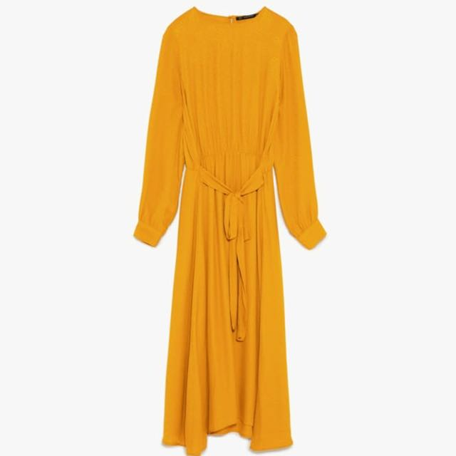 Authentic Zara Yellow Mustard Maxi Dress