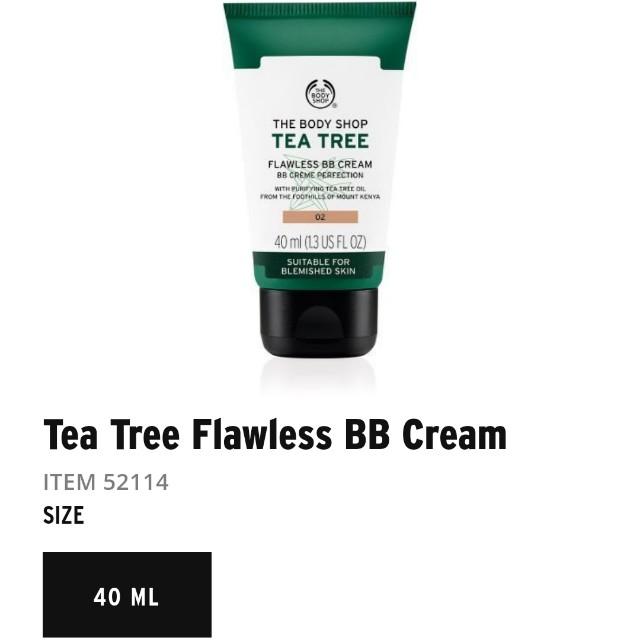 Bb cream the body shop tea tree