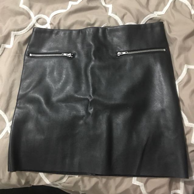 Bikie Leather Skirt