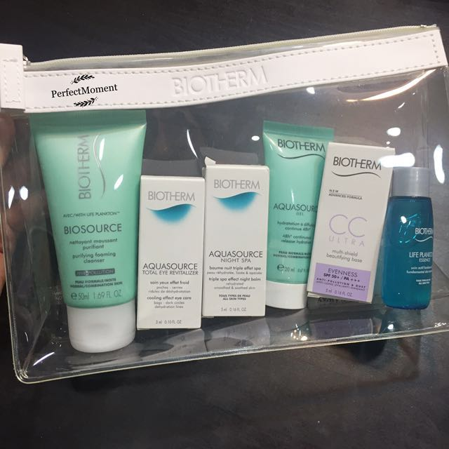 Biotherm skincare sample travel kit