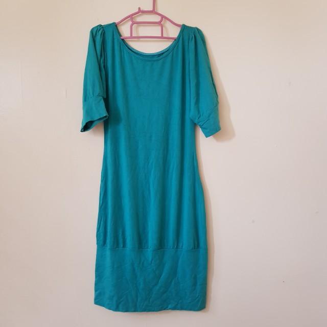 Blue green dress 💕